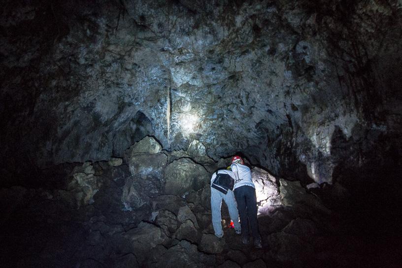 Fin del recorrido de la cueva.